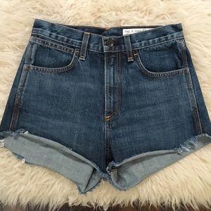 Rag & Bone Lou High Waist Cutoff Jeans Shorts 25